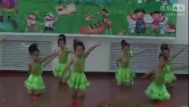 儿童舞蹈教学六一节幼儿园拉丁舞芭蕾舞教学视频大全动律操体操.flv