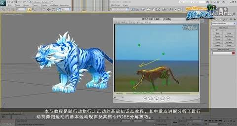简介:四足动物奔跑老虎游戏动画