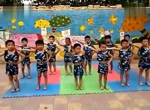 幼儿舞蹈 幼儿园大班男孩