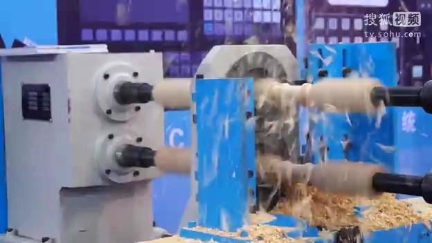 双轴双刀数控木工车床加工视频-原创视频-搜狐视频