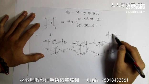 手绘 手绘教程 室内手绘基础教程 第二课【方块练习】