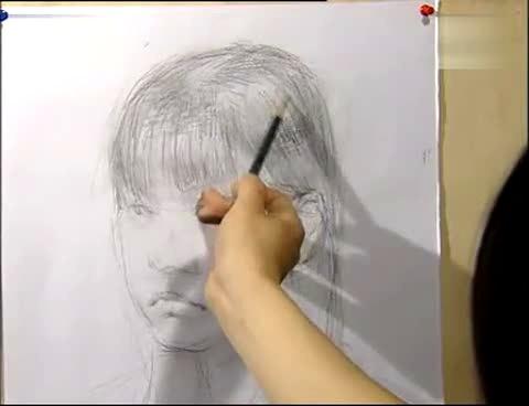 素描头像绘画过程