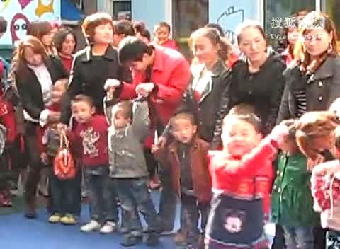 长平艺术幼儿园迎五一大班与学前班亲子游戏活动(2)