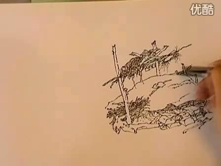 手绘100网 李明同钢笔速写手绘视频教程1
