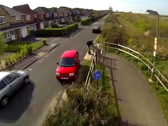 爱尔/Airwheel爱尔威火星车 英国郊外航拍爱尔威独轮车吧