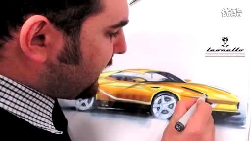 兰博基尼汽车设计马克笔手绘教程