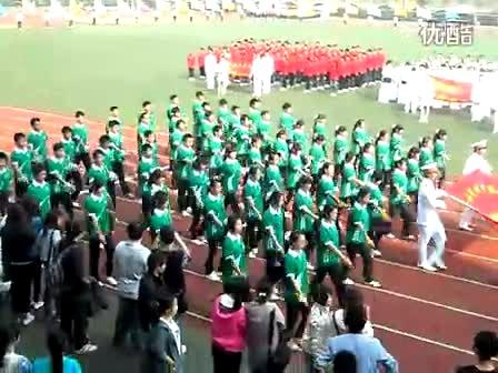 2011武汉东湖学院生化院运动会方阵