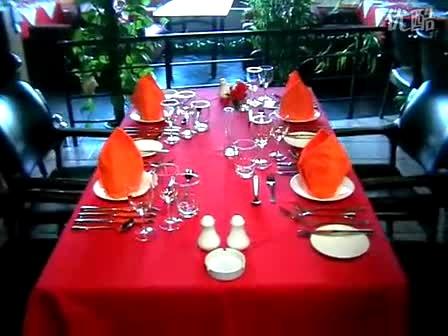 西餐宴会摆台
