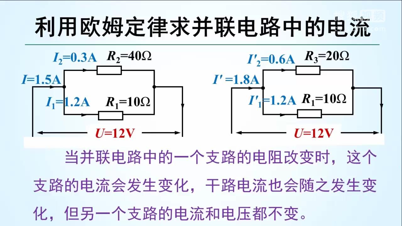 定律求并联电路中的电流 九年级第十七章 欧姆定律【中考物理微课】.