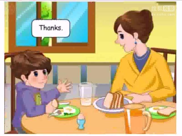 义务教科书PEP四年级英语上册Unit 5 Dinner's Ready_lets learn PartB动画flash