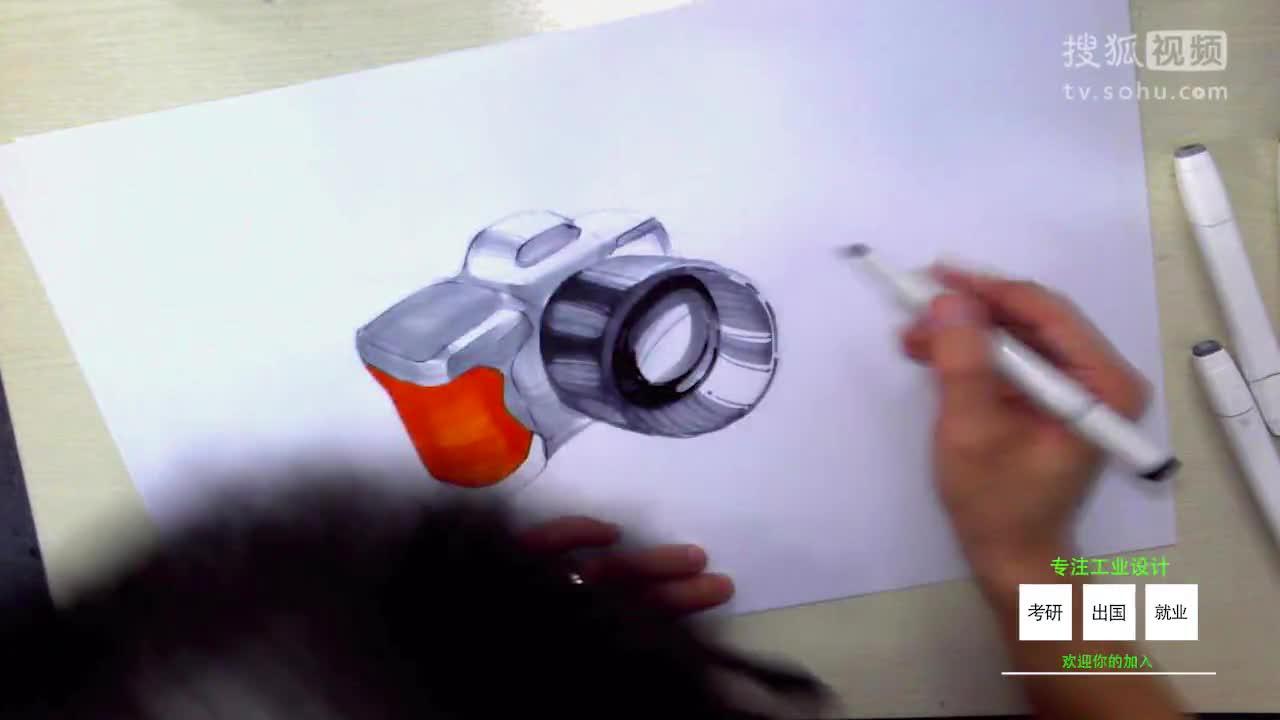 工业设计手绘产品实战案例设计-照相机(上篇)维晶正方工业设计手绘
