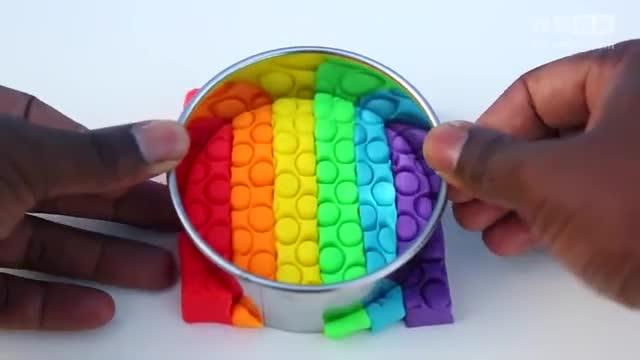 彩泥粘土橡皮泥diy毛笔冰糕棒棒糖手工制作方法教程视频